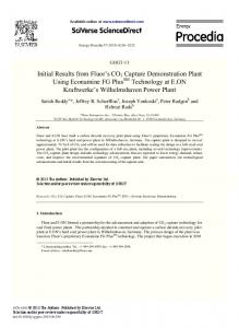 Initial Results from Fluor's CO2 Capture Demonstration Plant ... - Core
