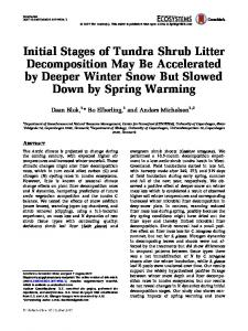 Initial Stages of Tundra Shrub Litter Decomposition May Be ...