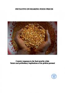 initiative on soaring food prices - Food and Agriculture Organization of ...