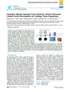 Injectable Alginate Hydrogel Cross-Linked by ... - ACS Publications