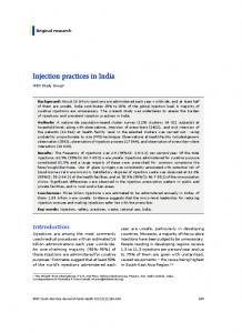 Injection practices in India - WHO South-East Asia Region - World ...