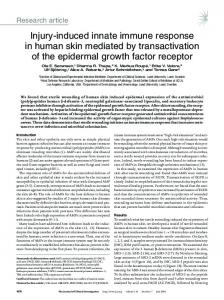 Injury-induced innate immune response in human ... - Semantic Scholar