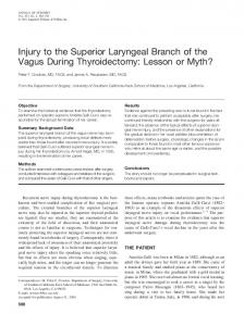 Injury to the Superior Laryngeal Branch of the
