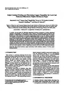 Inkjet Catalyst Printing and Electroless Copper Deposition for Low ...