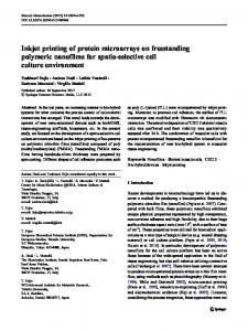 Inkjet printing of protein microarrays on freestanding ... - Springer Link