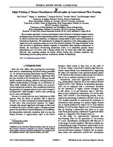 Inkjet Printing of Viscous Monodisperse ... - Semantic Scholar