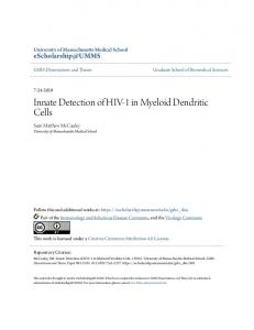 Innate Detection of HIV-1 in Myeloid Dendritic Cells