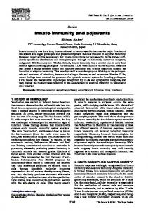 Innate immunity and adjuvants - BioMedSearch