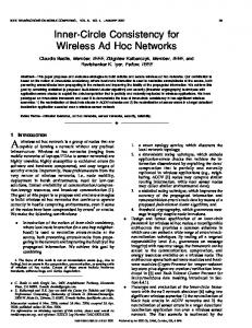 Inner-Circle Consistency for Wireless Ad Hoc Networks - IEEE Xplore