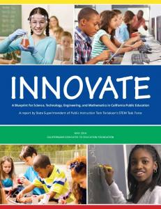 Innovate A Blueprint for STEM Education - Science (CA Dept of ...