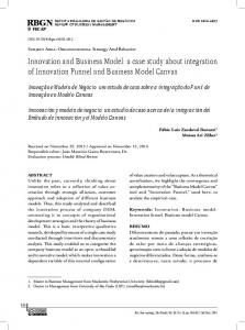 Innovation and Business Model: a case study about ... - RBGN - Fecap
