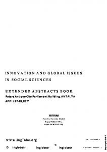 INNOVATION AND GLOBAL ISSUES IN SOCIAL ...