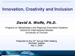 Innovation, Creativity and Inclusion