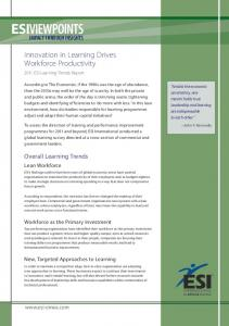 Innovation in Learning Drives Workforce Productivity - Informa.com