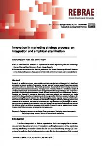 Innovation in marketing strategy process: an ...