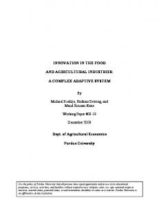 INNOVATION IN THE FOOD AND AGRICULTURAL ... - AgEcon Search