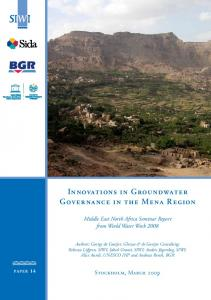 Innovations in Groundwater Governance in the Mena Region - SIWI