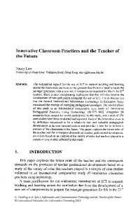 Innovative Classroom Practices and the Teacher of the ... - Springer Link
