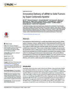 Innovative Delivery of siRNA to Solid Tumors by ... - Semantic Scholar