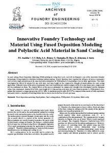 Innovative Foundry Technology and Material Using