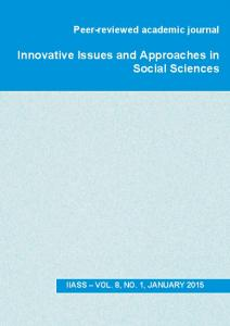 Innovative Issues and Approaches in Social Sciences - IIASS