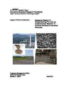 Innovative Pavement Research Foundation Research Report for ...