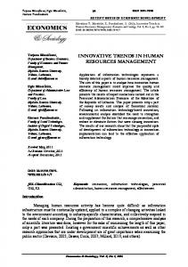 innovative trends in human resources management - Economics and ...