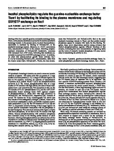 Inositol phospholipids regulate the guanine-nucleotide-exchange ...