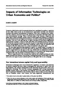 Inpacts of Information Technologies on Urban ... - Saskia Sassen