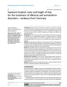 Inpatient hospital costs and length of stay for the
