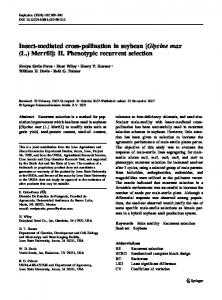 Insect-mediated cross-pollination in soybean [Glycine ... - PubAg - USDA