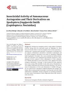 Insecticidal Activity of Annonaceous Acetogenins and Their ...