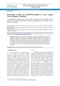Insecticidal Activity of