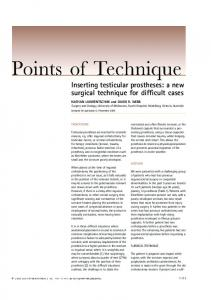 Inserting testicular prostheses: a new surgical ... - Wiley Online Library