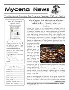 Inside This Issue... - Mycological Society of San Francisco