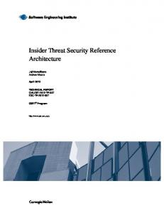 Insider Threat Security Reference Architecture - Software Engineering ...