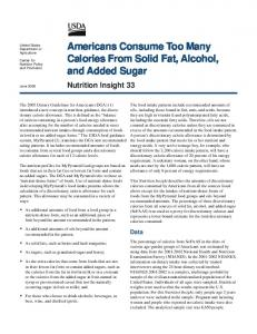 Insight 29rev2 - Center for Nutrition Policy and Promotion - USDA