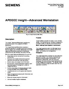 Insight Apogee PC Software Package
