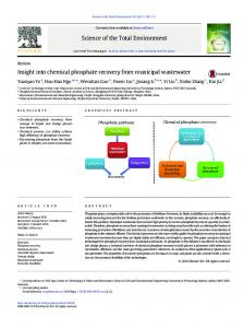 Insight into chemical phosphate recovery from ...