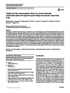 Insight into litter decomposition driven by nutrient ... - Springer Link
