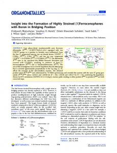 Insight into the Formation of Highly Strained [1 ... - ACS Publications