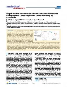 Insight into the Time-Resolved Extraction of Aroma Compounds during ...