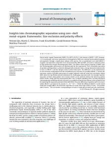 Insights into chromatographic separation using core