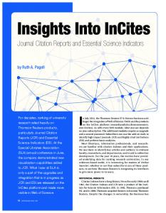 Insights Into InCites - librarylearningspace.com