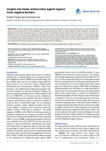Insights into Newer Antimicrobial Agents Against