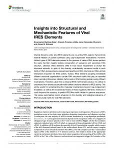 Insights into Structural and Mechanistic Features of