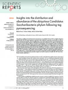 Insights into the distribution and abundance of the ... - Semantic Scholar