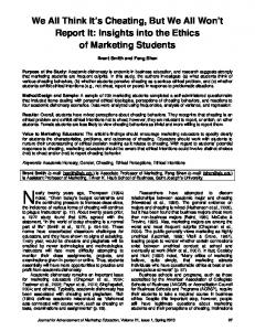 Insights into the Ethics of Marketing Students - Marketing Management ...