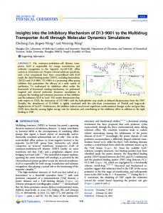 Insights into the Inhibitory Mechanism of D13-9001 ... - ACS Publications