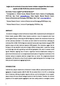Insights into the mechanism of interaction between ...